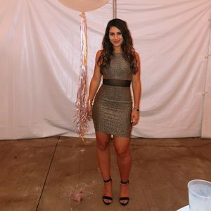 Olive Green Sparkly Short Party Dress Forever 21